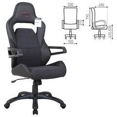 Кресло компьютерное BRABIX «Nitro GM-001», ткань, экокожа, черное