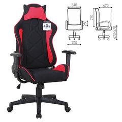 Кресло компьютерное BRABIX «GT Racer GM-101», подушка, ткань, черное/<wbr/>красное
