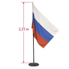 Флаг России напольный с флагштоком, высота 2,3 м, полотно: 90×135 см