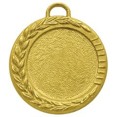 Медаль металлическая под вкладыш D=25 мм, цвет золото, D=35 мм, без ленты
