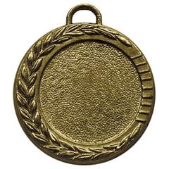 Медаль металлическая под вкладыш D=25 мм, цвет бронза, D=35 мм, без ленты