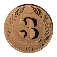 Вкладыш-эмблема для медалей, кубков, призов, «Третье место», металлический, D=25 мм, цвет бронзовый