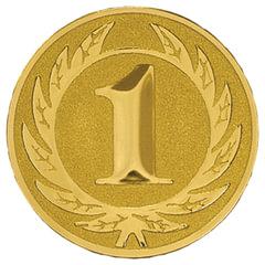 Вкладыш-эмблема для медалей, кубков, призов, «Первое место», металлический, D=50 мм, цвет золотистый