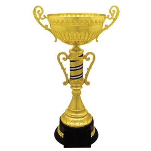 Кубок металлический «Мавр» (240×160×400 мм), основание пластик черный, «золото»