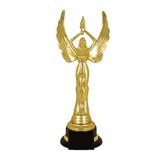 Приз «Ника» пластиковый (140×140×300 мм), основание пластик черный, «золото»
