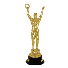 Приз «Оскар» пластиковый (100×100×305 мм), основание пластик черный, «золото»