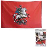 Флаг Москвы, 90×135 см, упаковка с европодвесом