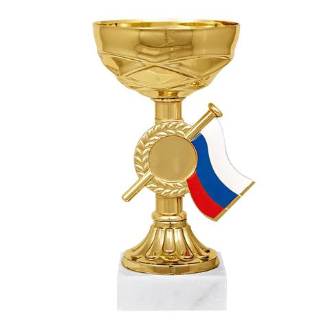 """Кубок металлический """"Гелла""""(80х80х170 мм), основание мрамор, """"золото"""""""