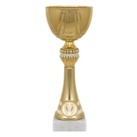 "Кубок металлический ""Хьюго"" (120х120х290 мм), основание мрамор, ""золото"""