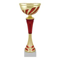 Кубок металлический «Март» (80×80×310 мм), основание мрамор, «золото», стем красный