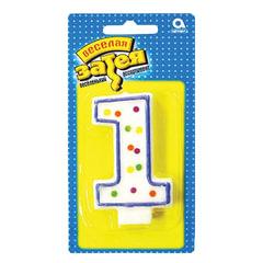 Праздничная свеча цифра «1» высотой 7,6 см