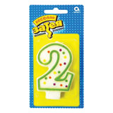 Праздничная свеча цифра «2» высотой 7,6 см