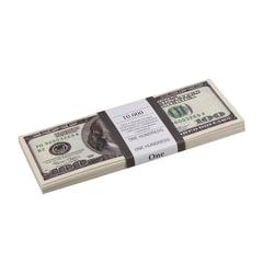 Деньги шуточные «100 долларов», упаковка с европодвесом