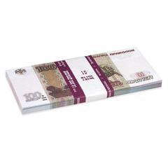Деньги шуточные «100 рублей», упаковка с европодвесом