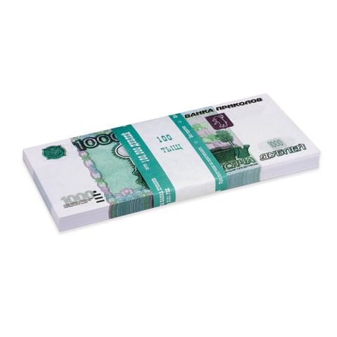 Деньги шуточные «1000 рублей», упаковка с европодвесом