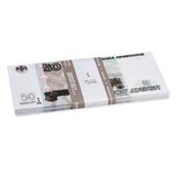 Деньги шуточные «50 рублей», упаковка с европодвесом
