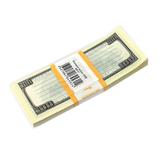 Блок для записей «100 долларов», проклеенный, 15×6×1 см