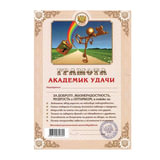 Грамота Шуточная «Академика удачи», А4, мелованный картон