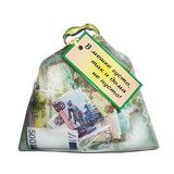 Сувенир мешочек с деньгами «В мешке густо, так и дома не пусто», прозрачный