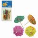 Праздничная пика для канапе «Зонтик», комплект 12 шт., деревянная, 10 см, в упаковке с европодвесом
