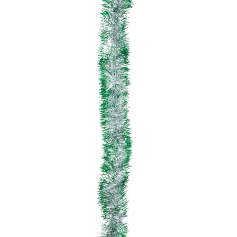 "Гирлянда ""Норка 1"", 1 штука, диаметр 50 мм, длина 2 м, серебро с зелеными кончиками"