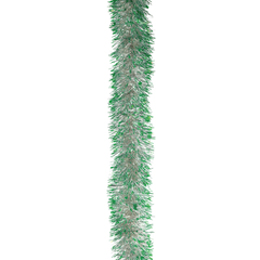 Гирлянда «Норка 2», 1 штука, диаметр 70 мм, длина 2 м, серебро с зелеными кончиками