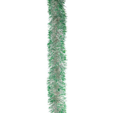 "Гирлянда ""Норка 2"", 1 штука, диаметр 70 мм, длина 2 м, серебро с зелеными кончиками"