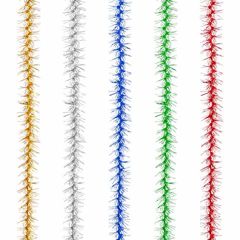 """Гирлянда """"Пушок"""", 1 штука, диаметр 50 мм, длина 2 м, ассорти 5 цветов"""
