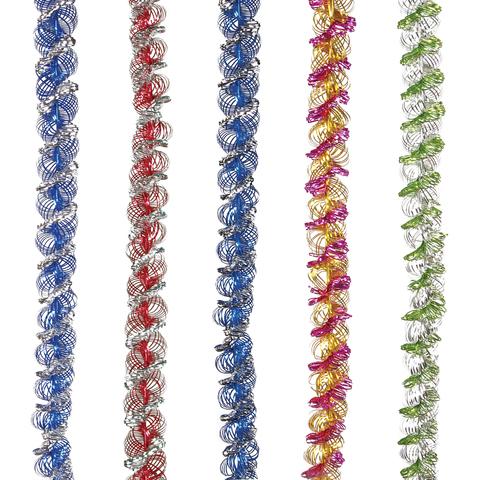 """Гирлянда """"Спираль двойная"""", 1 штука, диаметр 35 мм, длина 2 м, ассорти 5 цветов"""