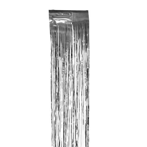 Дождик новогодний, ширина 75 мм, длина 1,5 м, серебристый