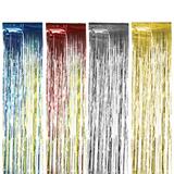 Дождик новогодний, ширина 150 мм, длина 2 м, ассорти (серебро, золото, красный, синий)