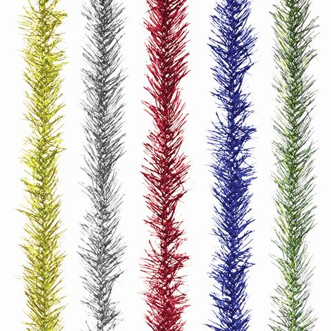 Мишура № 16, 1 штука, диаметр 60 мм, длина 2 м, ассорти 5 цветов