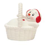Фигурка новогодняя «Снеговик в корзине», 8 см, керамика