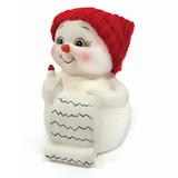 Фигурка новогодняя «Снеговик и список подарков», 8 см, керамика