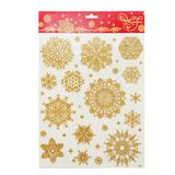 Украшение для окон и стекла декоративное «Снежинки золотые объемные-3», 30×38 см, ПВХ