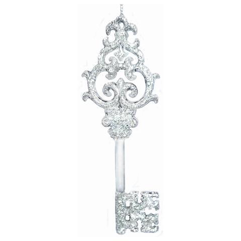 """Украшение елочное подвесное """"Ключик в серебре"""", 15,2 см, пластик"""