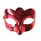 Маска карнавальная «Блестящая красная», 15,5×9×7,5 см, ПВХ, с атласной лентой