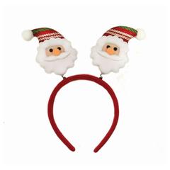 Ободок карнавальный «Дед Мороз в полосатом колпаке», 22×26 см, полиэстер