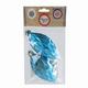 Украшения декоративные подвесные «Бирюзовая еловая шишка», набор 2 шт., пластик, 5×10см