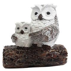 Фигурка новогодняя декоративная «Сова и совенок», полирезина, 9×5×9 см