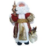 Дед Мороз декоративный, пластик/<wbr/>ткань, высота 30 см, в красной шубе