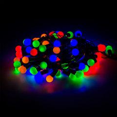 Электрогирлянда светодиодная УЛЬТРАЯРКАЯ, 100 ламп, 10 м, многоцветная, с контроллером