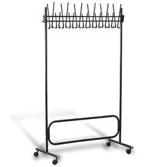 Вешалка напольная «СК (СКР)», 1,8 м, 22 крючка, металл, черная, передвижная