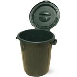 Контейнер для мусора 90 л + КРЫШКА, IDEA, зеленый, высота 64,5, диаметр 60 см