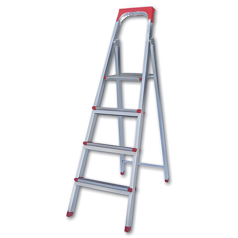 Лестница-стремянка «UFUK », 86 см, 4 ступени, стальная, облегченная, вес 6,3 кг