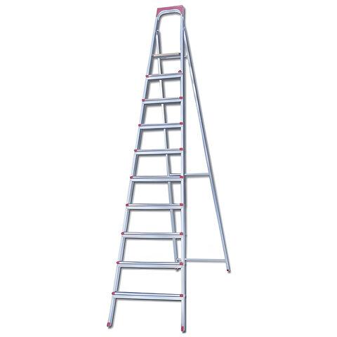 Лестница-стремянка «UFUK », 226 см, 10 ступеней, стальная, облегченная, вес 13 кг
