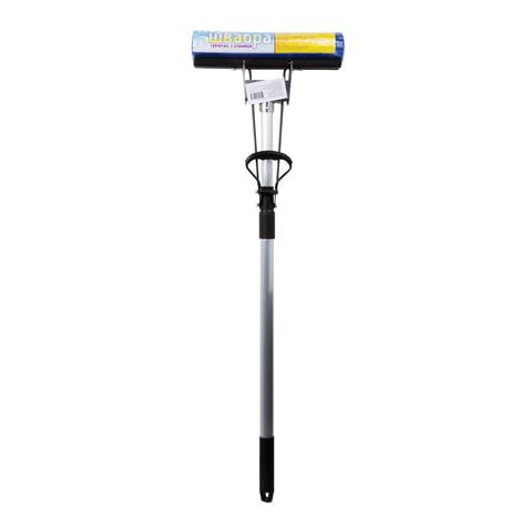 Швабра с отжимом, металлическая ручка 120 см, насадка PVA, 27 см (механизм-ролики), для офиса и дома