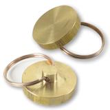 Пломбиратор диаметр 25 мм, латунь, к опечатывающему устройству с флажком код 600411
