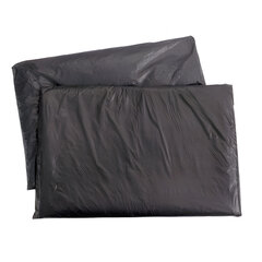 Мешки для мусора, 200 л, комплект 5 шт., в упаковке, ПВД, особо прочные, 90×130 см, 65 мкм, черные, КБ «Профи»