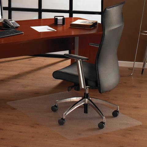 Коврик защитный для твердых напольных покрытий, износостойкий, FLOORTEX, квадратный, 92×92 см, толщина 2 мм